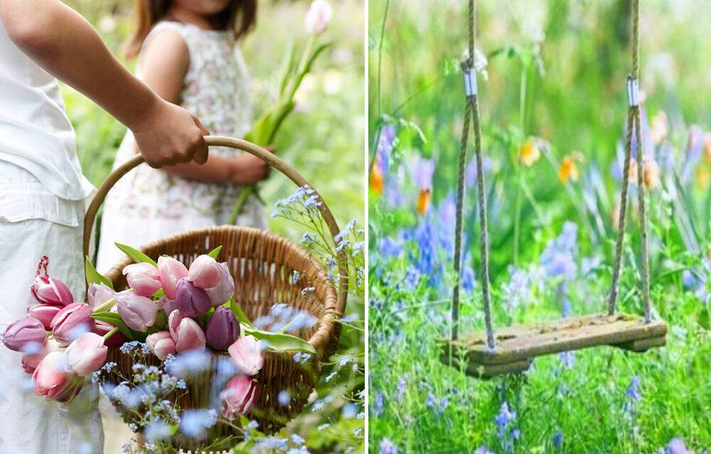Wiosenny ogród pełen energii