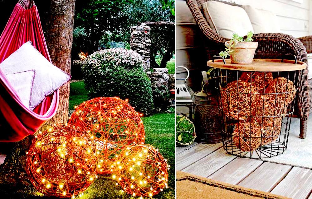 DIY: jak zrobić kule świetlne do ogrodu i na balkon?