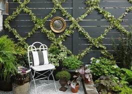 DIY: jak zrobić wzorzystą ścianę z bluszczu